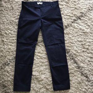 Gap slim cropped navy blue pant
